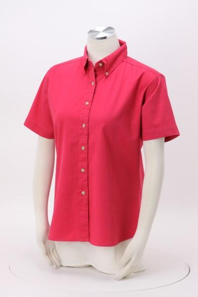 Blue Generation Fine SS Twill Shirt - Ladies' 360 View