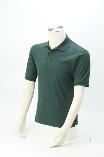 Silk Touch Pique Shirt with Pocket 360 View