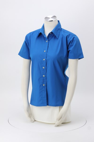 Easy-Care Short Sleeve Poplin Shirt - Ladies' 360 View