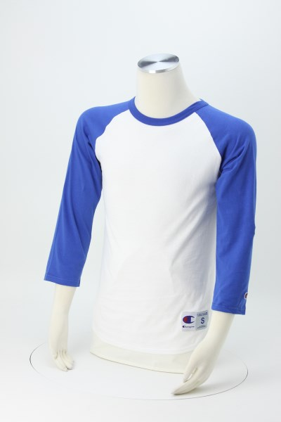 Champion Tagless Raglan Baseball Tee - Screen 360 View