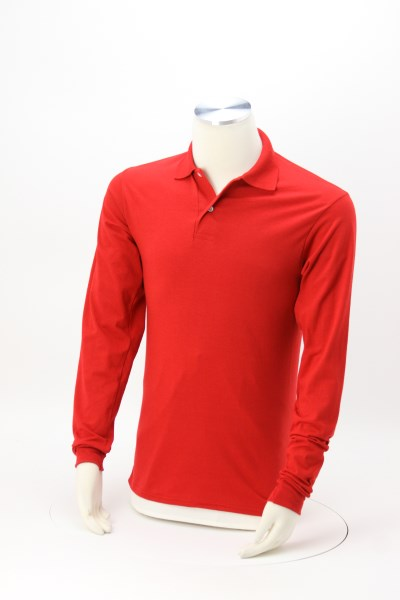 Jerzees SpotShield LS Jersey Knit Shirt 360 View