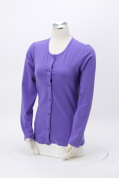 Blue Generation Long Sleeve Cardigan - Ladies' 360 View