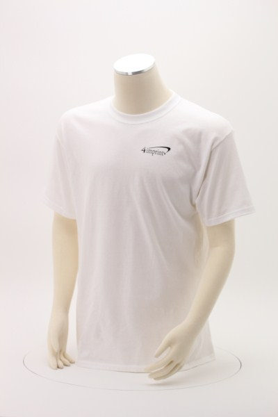 Hanes Tagless T-Shirt - Screen - White 360 View