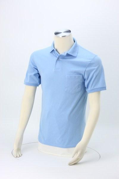 Hanes ComfortBlend 50/50 Jersey Pocket Sport Shirt 360 View
