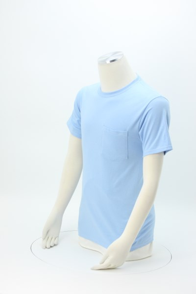 Hanes Tagless Pocket T-Shirt - Screen - Colors 360 View