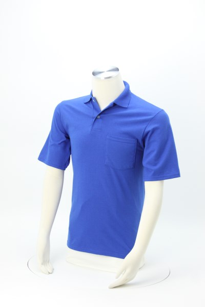 Jerzees SpotShield Jersey Shirt with Pocket 360 View