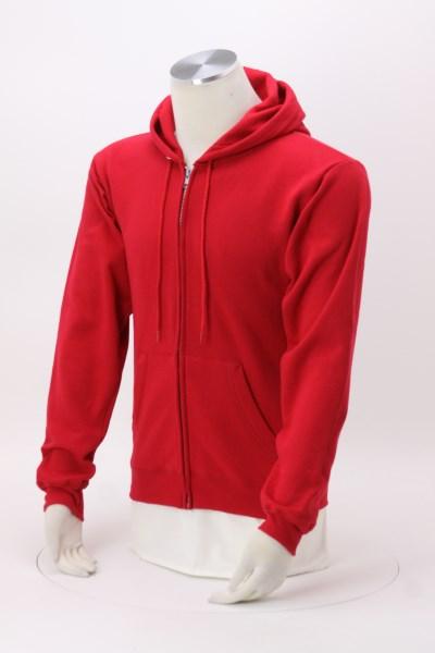 Hanes ComfortBlend Full-Zip Sweatshirt - Embroidered 360 View