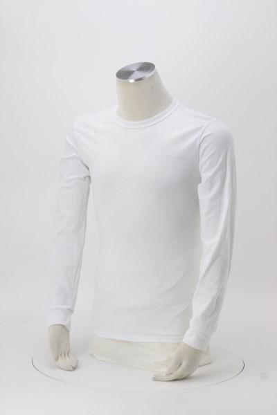 Jerzees Dri-Power 50/50 LS T-Shirt - White - Screen 360 View