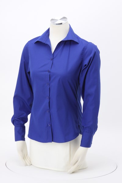 Lightweight Easy Care Poplin Shirt - Ladies' 360 View