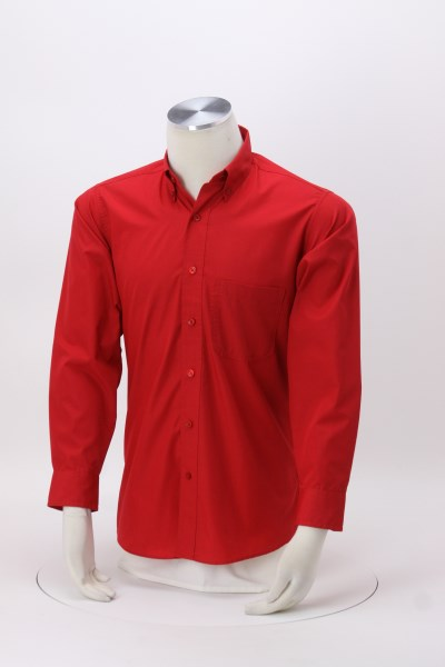 Lightweight Easy Care Poplin Shirt - Men's 360 View