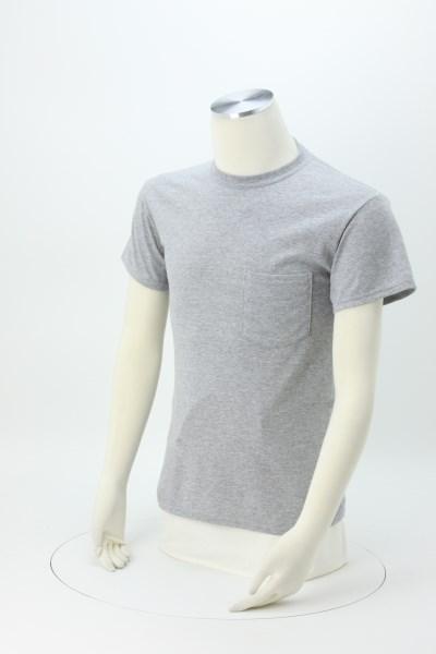 Gildan 5.5 oz. DryBlend 50/50 Pocket T-Shirt - Screen - Colors 360 View