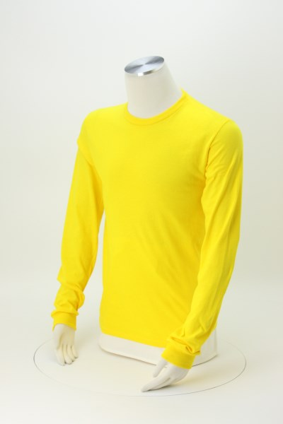Adult 5.2 oz. Cotton Long Sleeve T-Shirt - Screen 360 View