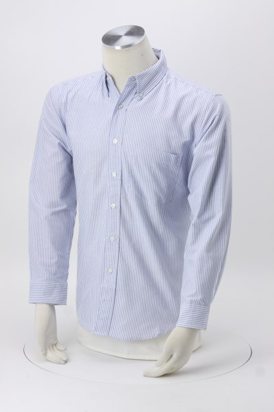 Blue Generation Long Sleeve Oxford - Men's - Stripes 360 View