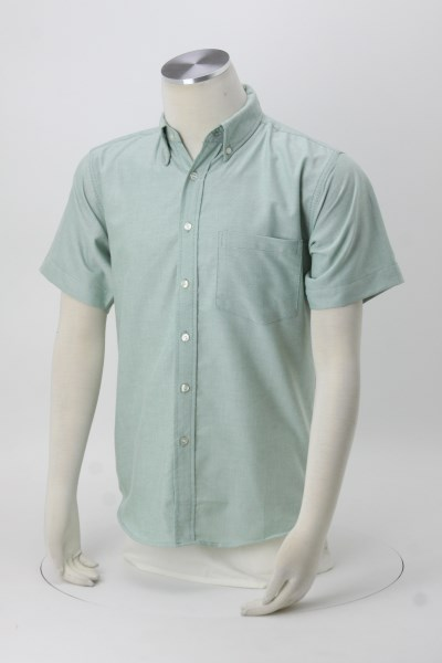 Blue Generation Short Sleeve Oxford - Men's - Solid 360 View