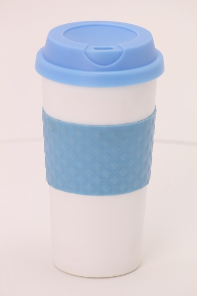 Color Banded Classic Coffee Cup - 16 oz. 360 View