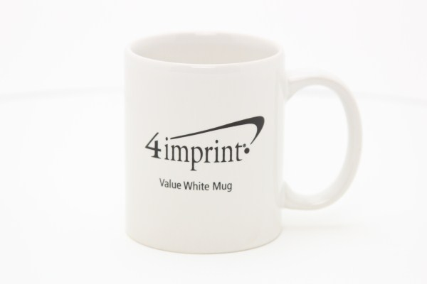 Value White Coffee Mug - 11 oz. 360 View