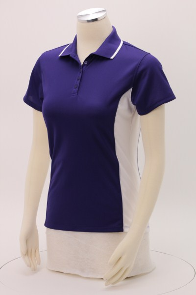 Tipped Colorblock Wicking Polo - Ladies' 360 View