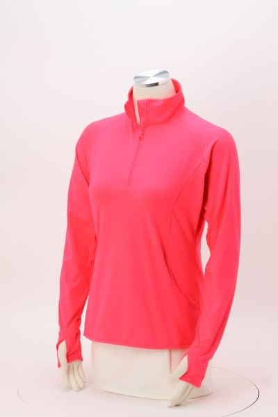 Sport-Wick Stretch 1/2-Zip Pullover - Ladies' - Embroidered 360 View