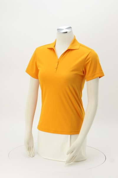 Moreno Textured Micro Polo - Ladies' - Embroidered 360 View