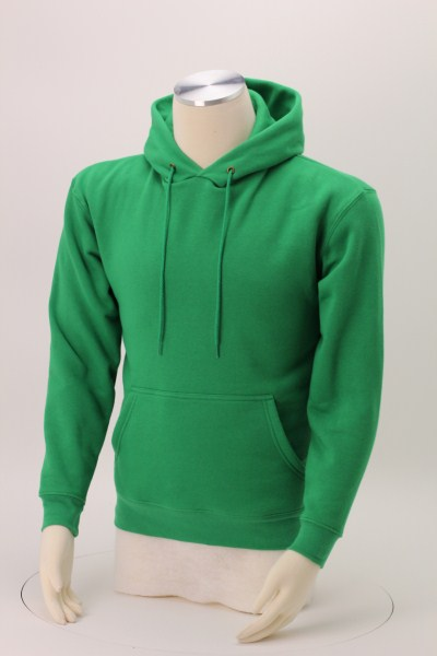 Cotton Rich Fleece Hoodie - Embroidered 360 View