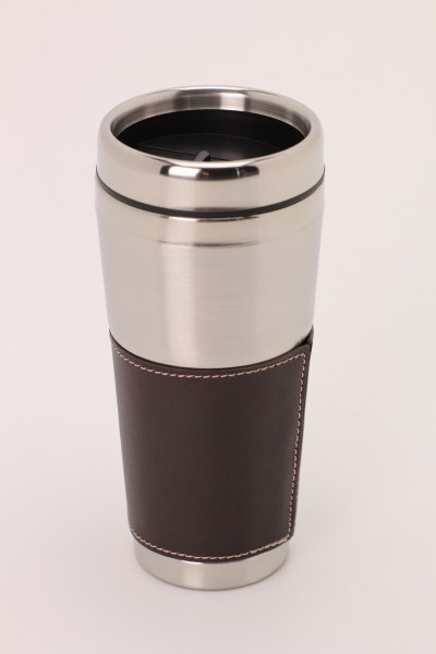 Cutter & Buck Leather Tumbler - 16 oz. 360 View