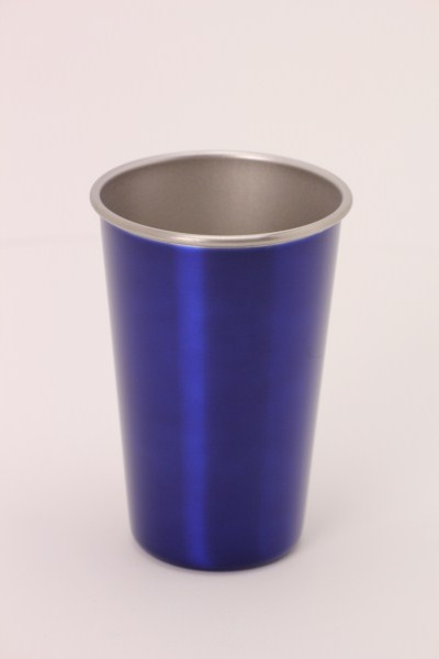 Stainless Steel Pint Glass - 16 oz. 360 View