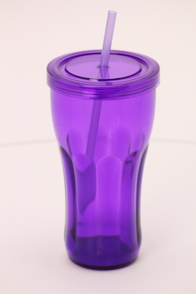 Fountain Soda Tumbler with Straw - 24 oz. 360 View