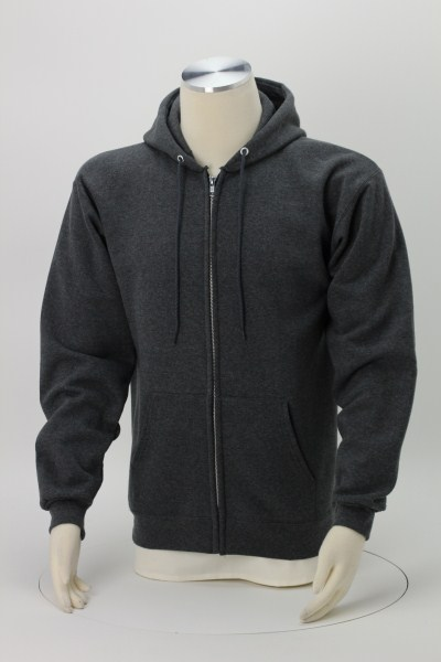 Hanes Ultimate Cotton Full-Zip Hoodie - Embroidered 360 View