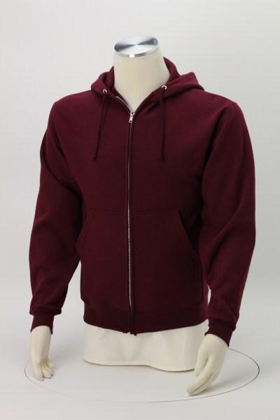 Jerzees Nublend Super Sweats Full-Zip Hoodie - Embroidered 360 View