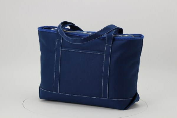 Solid Cotton Yacht Tote - 14 inches x 24 inches 360 View