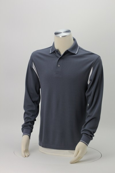 Action LS Waffle Knit Polo 360 View