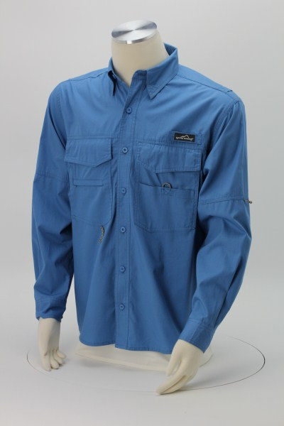 Eddie Bauer Cotton LS Angler Shirt 360 View