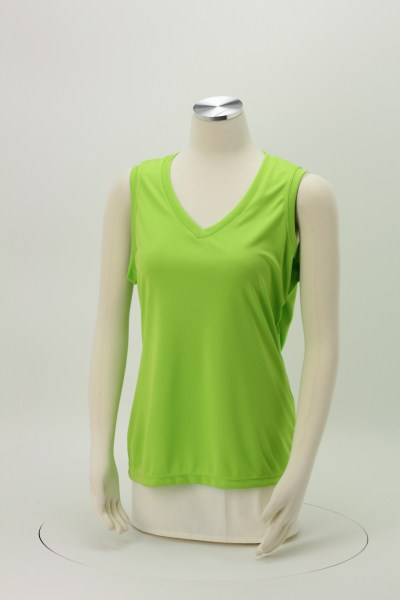 Sleeveless Contender V-Neck Tank - Ladies' - Screen 360 View