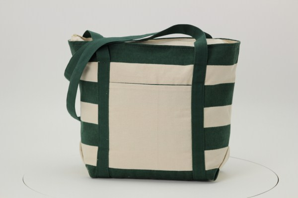 Striped Accent 10 oz. Boat Tote - 13 inches x 18 inches 360 View