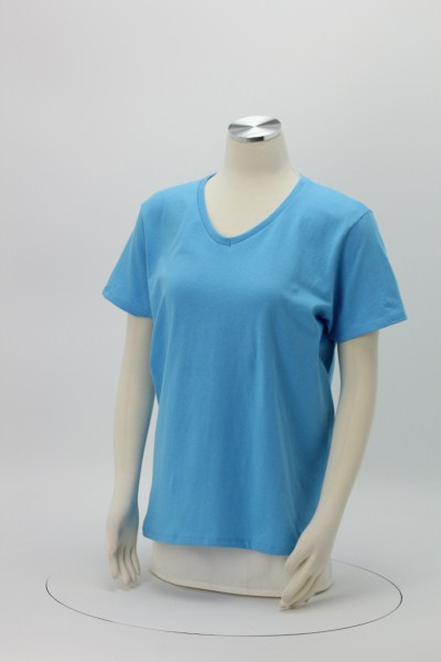 Hanes ComfortSoft V-Neck Tee - Ladies' - Screen - Colors 360 View