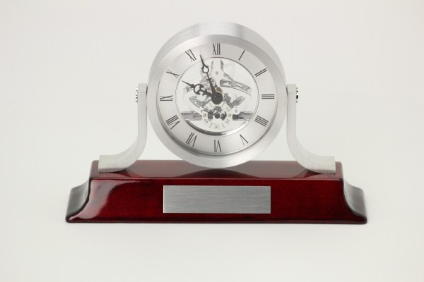 Modern Mantel Skeleton Clock 360 View