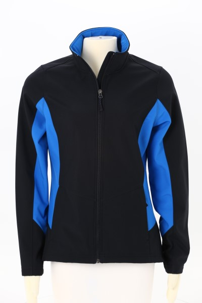 Crossland Colorblock Soft Shell Jacket - Ladies' 360 View