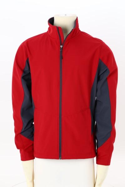Crossland Colorblock Soft Shell Jacket - Men's 360 View