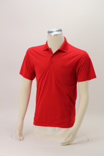 Micropique Sport-Wick Pocket Polo - Men's 360 View