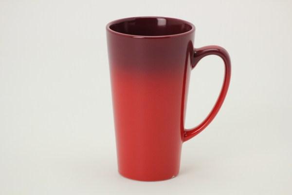 Ombre Tall Latte Ceramic Mug - 14 oz. 360 View