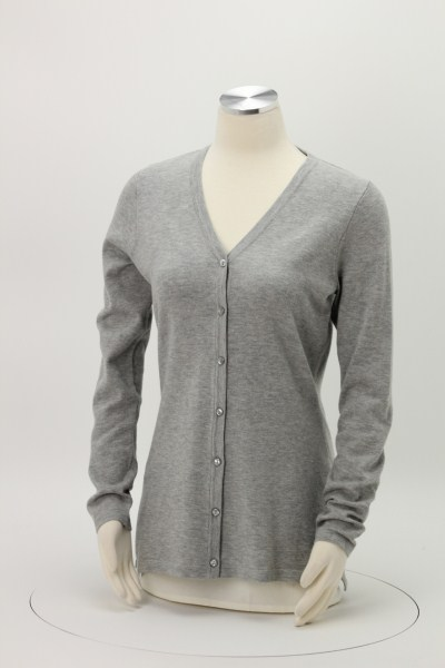 Featherweight V-Neck Long Cardigan 360 View