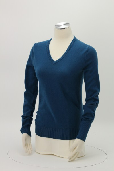 Fine Gauge V-Neck Sweater - Ladies' 360 View