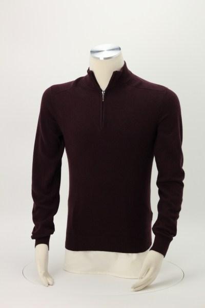 Fine Gauge 1/2-Zip Sweater Pullover 360 View