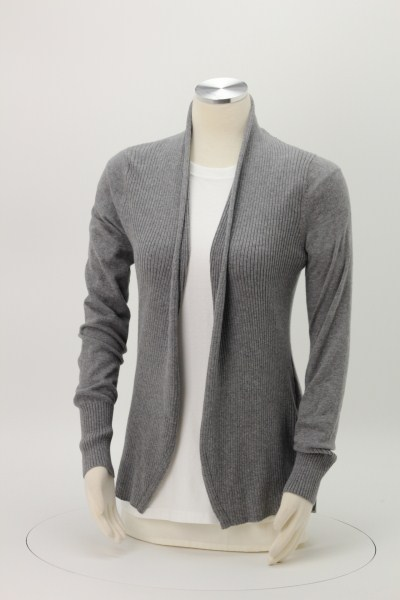 Fine Gauge Open Front Cardigan - Ladies' 360 View