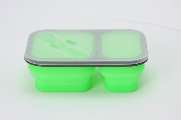 Collapsible Two-Section Food Container 360 View