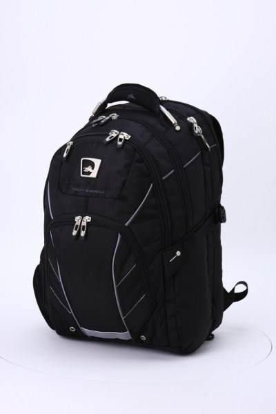"High Sierra Elite Fly-By 17"" Laptop Backpack 360 View"