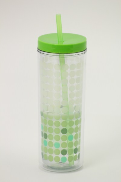 Ice Chameleon Tumbler with Straw - 16 oz. 360 View