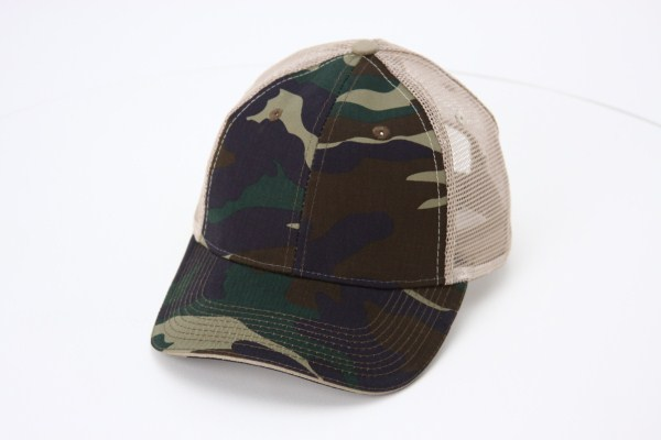 Sandwich Bill Trucker Cap - Camo 360 View