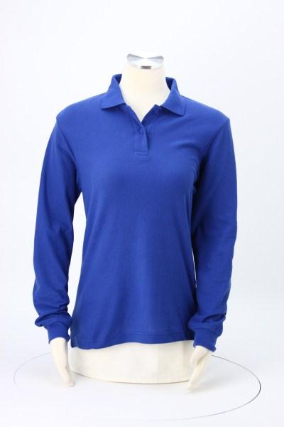 Soft Touch Pique LS Sport Shirt - Ladies' 360 View