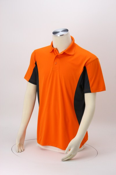 Stain Release Colorblock Performance Polo - Men's 360 View